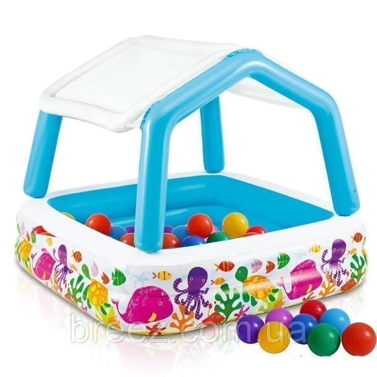 Детский надувной бассейн Intex 57470 Аквариум со съемным навесом 157 х 157 х 122 см