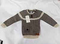Свитер  детский шерстяной  для мальчика 1-3 года,бежевый