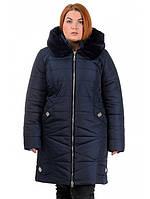 """Зимнее плащевое пальто с мехом """"мутон"""""""