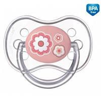Пустышка силиконовая симметрическая Newborn baby 18+ месяцев - 22/582 розовая