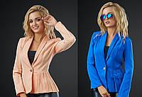 Женский пиджак на пуговице размеры S-M-L