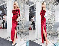 Бархатное платье в пол 451 МВ