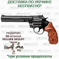 Револьвер флобера Stalker wood 6 дюймов, 4 мм, коричневая рукоять