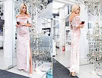 Бархатное платье в пол 451.1 МВ