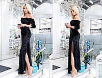 Бархатное платье в пол 451.2 МВ