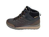 Мужские кроссовки зимние с нат кожи на меху S4 Gore-Tex Brown р: 40 41 42 43 44