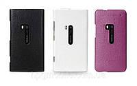 Чехол для Nokia Lumia 920 - Melkco Snap leather cover, кожаный, разные цвета
