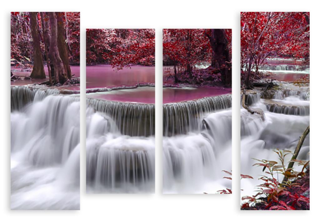 Модульная картина маленький водопад