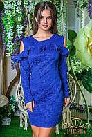 Платье (42-44 44-46 46-48 48-50) —  креп флог купить оптом и в розницу в одессе  7км
