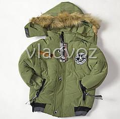 Демисезонная куртка для мальчика утепленная хаки Fashion 3-4 года