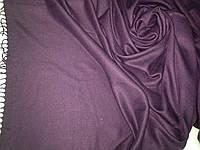 Однотонный  палантин с бахромой цвет фиолетовый, фото 1