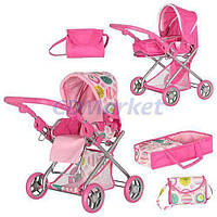 Melogo Акция! Детская коляска для кукол Melogo 9379/029. Скидка 3 % на куклы и пупсы при покупке коляски! Спешите, количество ограничено!