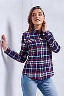 Женская рубашка в модную клетку