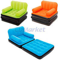 BestWay Акция! Надувное кресло Bestway 67277. Цена снижена на кресла оранжевого цвета! Скидка 3 % на подушки, ремкомплект и насос при покупке дивана!