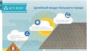 Битумная гибкая фотокаталитическая черепица Tegola Acti Roof, фото 3