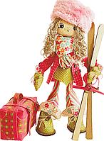 """Набор для шитья игрушек (текстильная каркасная кукла) """"Лыжница"""""""