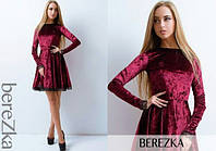 Платье (S, M) —  велюр  купить оптом и в розницу в одессе  7км