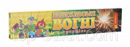 Бенгальские огни, длина: 16 см, в упаковке: 10 шт., время горения: 30 секунд
