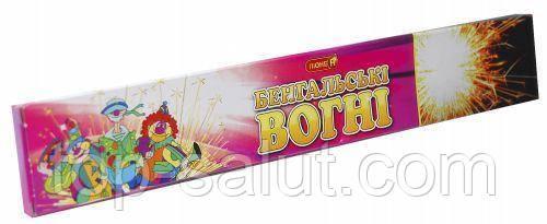 Бенгальские огни, длина: 25 см, в упаковке: 10 шт., время горения: 60 секунд