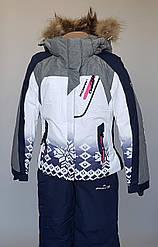 Лыжный комбинезон для девочек «Skorpian» белого цвета