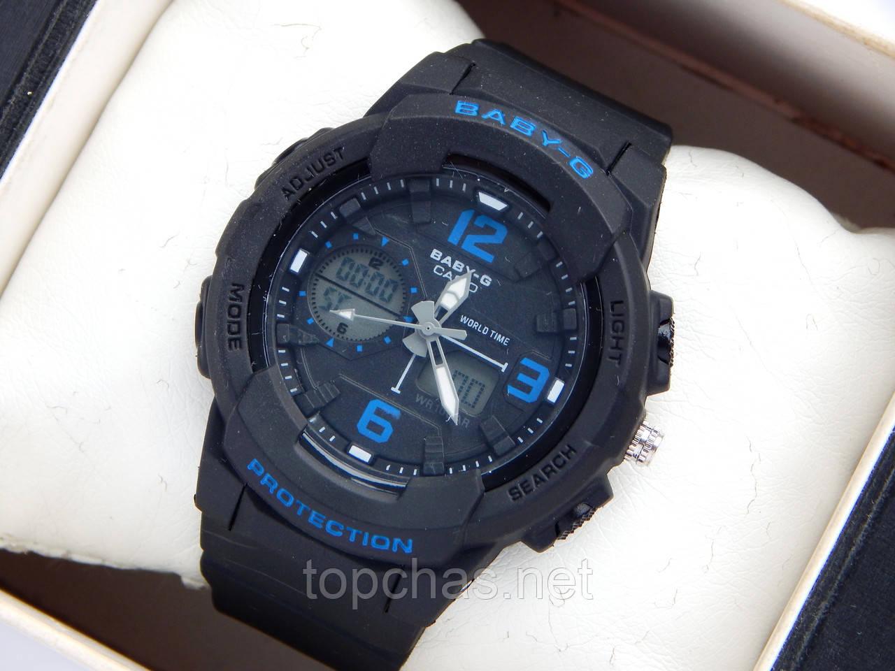 Наручные часы Casio Baby-G BGA-210 черный+синий, фото 1