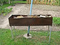 Мангал 124х30 см материал - листовое железо (б/у)