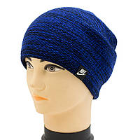 Мужская спортивная шапка-колпак из меланжевой пряжи