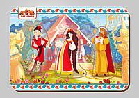 Деревянный вкладыш, серия «Три богатыря», размер 140*200 мм, арт. 101204