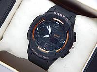 Наручные часы Casio Baby-G BGA-210 черные+оранжевый, фото 1