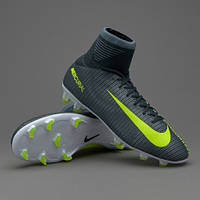 Детские футбольные бутсы Nike Mercurial Superfly V CR7 JR FG Seaweed/Volt/Hasta/White