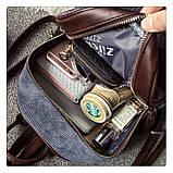 Рюкзак жіночий міський для дівчат вельветовий (чорний), фото 10