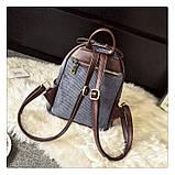 Рюкзак жіночий міський для дівчат вельветовий (чорний), фото 6
