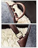 Рюкзак жіночий міський для дівчат вельветовий (чорний), фото 8