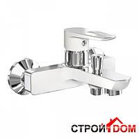 Настенный смеситель для ванны Imprese Breclav 10245W хром/белый