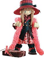 """Набор для шитья игрушек (текстильная каркасная кукла) """"Шоколадница мама"""""""