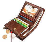 Мужской кожаный кошелек, портмоне. Натуральная кожа. Коричневый.  ЕК21, фото 1