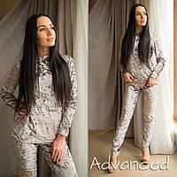 Велюровый костюм серый
