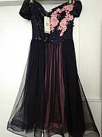 Платье вечернее с фатиновой юбкой
