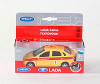 "Машина Welly,""LADA KALINA"" техпомощь, метал., в кор. 15*6*6см (36шт)"