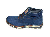 Мужские зимние ботинки нат.кожа нубук на меху Multi Shoes Footwear TK Blue р: 40 41 42 43 44