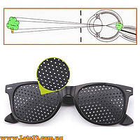 Перфорационные очки с дырочками для тренировки зрения (дизайн как у Ray-Ban Wayfarer)