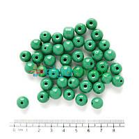 Бусины стеклянные круглые 10 мм, 50 г, ЗЕЛЕНЫЕ, Crystal Art