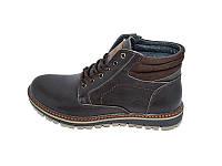 Мужские зимние ботинки нат.кожа на меху Multi Shoes Footwear TK Brown р: 40 41 42 43 44