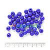 Бусины стеклянные круглые 10 мм, 50 г, СИНИЕ, Crystal Art
