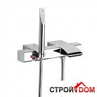 Настенный термостат для ванны с регулятором переключателя потока, ручной душ Roca Thesis A5A1150C00 Хром