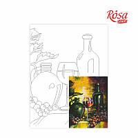 Полотно на картоне с контуром Натюрморт 22 30*40см ROSA Talent