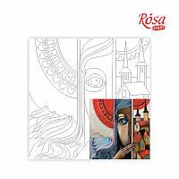 Полотно на картоне с контуром Про єдине і швидкоплинне 30*30см ROSA Talent