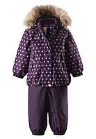 Комплект зимний (куртка + брюки на подтяжках) для девочки Reima Pihlaja 513112