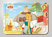 Деревянный паззл, серия «Три богатыря», размер 140*200 мм, 4 детали, арт. 102109