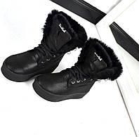 Зимние ботинки с меховой опушкой